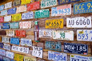 Autokennzeichen für Pkw in Deutschland sind meistens EU-Kennzeichen.