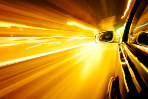 An der Baustelle wird geblitzt, wenn der Fahrer nicht langsam genug vorbeifährt.