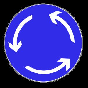 Im Kreisverkehr wird die Vorfahrt durch dieses Verkehrszeichen geregelt.