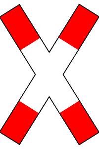 Das direkte Parken vor einem Andreaskreuz ist verboten